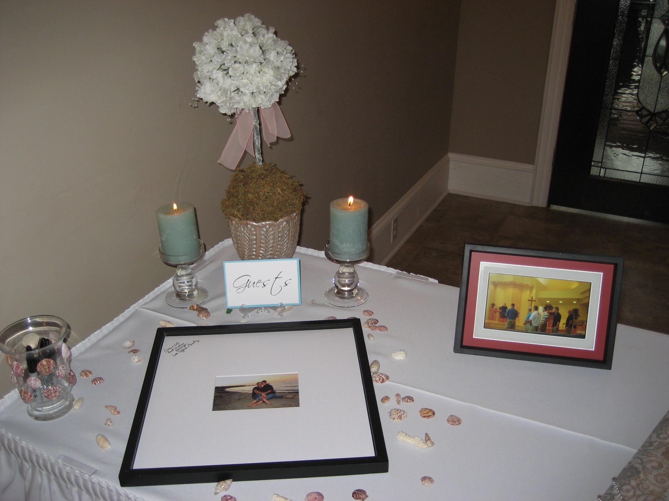 wedding recap val corey signature frame
