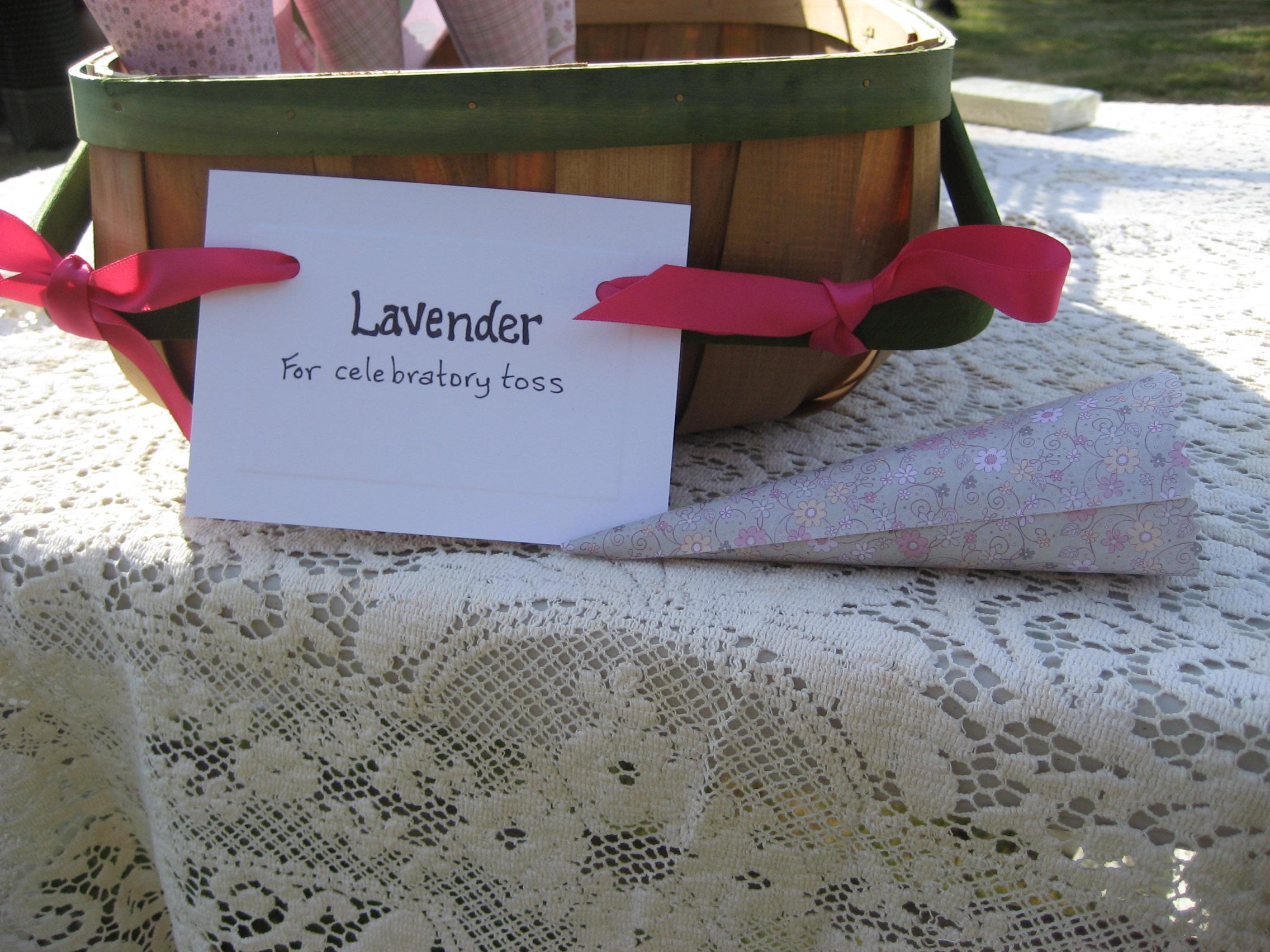 lavender toss cones