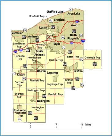 Ohio DNR Office Coastal Management list of electronic maps
