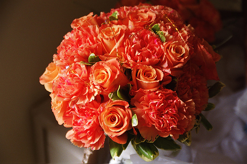 From a Flickr account here is a gorgeous rose and carnation bouquet