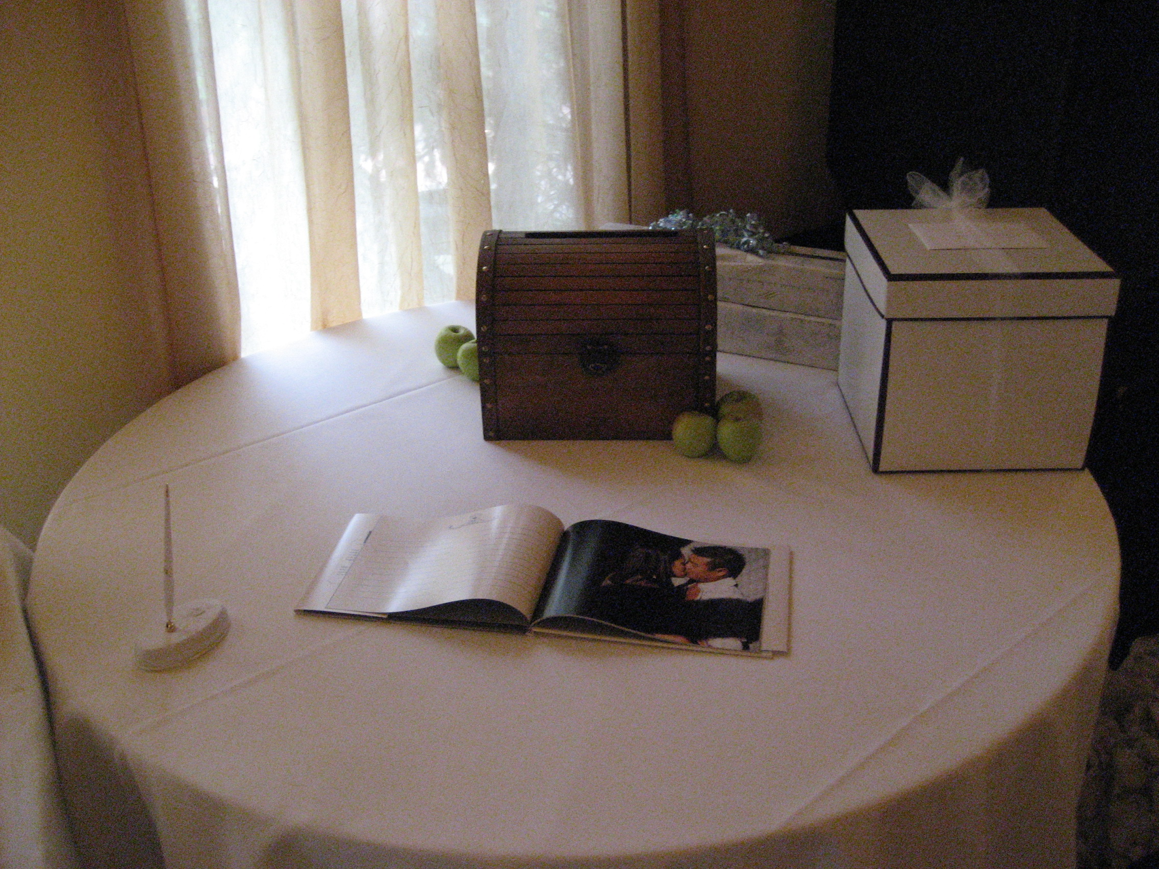Guest Book Gift Table A Wedding Wish